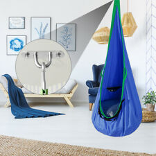 Kids Hammock Folding Hanging Pod Swing Seat Cotton Chair for Indoor Outdoor USA