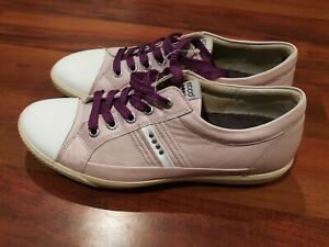 Ecco leather Womens Golf Street sneakers Shoes Pink Rose Size 7.5