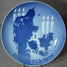Bing & Grondahl 1938 B&G Christmas Plate Lighting the Candles - Excellent!