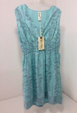 AVENTURA WOMEN'S ZOELLE DRESS BLUE TINT LARGE NWT $80