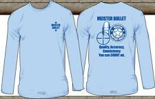Meister Bullet logo unisex T-shirt Blue Long sleeve ( SMALL)