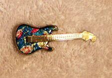 Multi-Colored Guitar Pin or Brooch to Wear on Your Hat, Shirt, Vest or Anywhere!