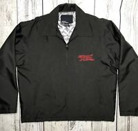 No Fear Men's  Zip Jacket Black Polyester Embroidered Quilted Lining Medium 1747