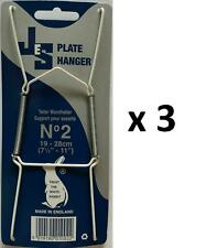 3 Plate Hangers Size 2 to Fit Plates 19-28cm Display Stand Decoration Kitchen