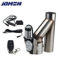 3 inch Exhaust E-cut Out Dual Valve Electric Y Pipe with  Controller Remote Kit