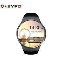 KW18 Lemfo TF Bluetooth SIM Deporte SmartWatch remoto para iOS Android Negro