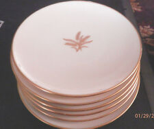 "LENOX Lot of 6 R-442 ""Wheat Pattern"" 6.25"" Bread and Butter/ Desert Plates"