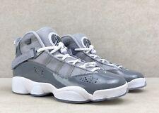Air Jordan GS 6 Rings Shoes Cool Grey White 323419-015 Sz 6Y / Women's 7.5