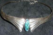 Sunrise Sterling Silver Abalone NECKLACE Carol Felley ? Native Southwestern Vtg