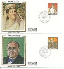 Canada Scott # 860-861 Emma Albani, Healey Willan Fdc .Colorano Silk Cachet.