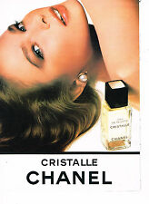 PUBLICITE ADVERTISING 034   1986   CHANEL    eau de toilette CRISTALLE
