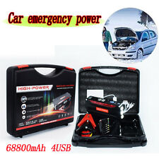 68800mAh Portable Car Jump Starter Pack Booster Battery Charger 4 USB Power Nice