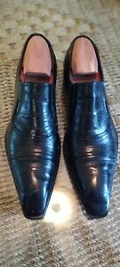 Men Jo Ghost Italian Black Leather dress Loafer Size 41 Us 9