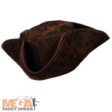 Caribbean Pirate Hat Adults Fancy Dress Buccaneer Captain Mens Ladies Accessory