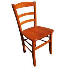 sedia sedie rustica legno massello arte povera casa ristorante ciliegio