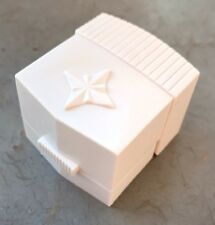 VINTAGE RING BOX WHITE EARLY PLASTIC STAR SHAPE ON TOP JEWELRY BOX