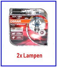 2x H7 Lampen OSRAM NIGHT BREAKER LASER made in Germany bis +130% mehr Licht