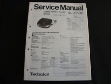 ORIGINALI service manual TECHNICS sl-xp240