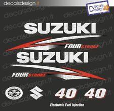 Adesivi motore marino fuoribordo Suzuki 40 cv four stroke 2010 barca stickers