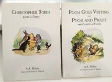 2 X Pooh Books MILNE Christopher Robin gives a party & visiting piglet FREE POST