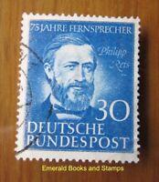 EBS Germany 1952 Philipp Reis telephone inventor Michel 161 U (d) cv $29.00