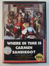 Sega Genesis Game Where in Time Is Carmen SEALED, USED BUT GOOD