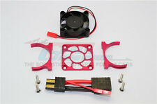 Traxxas Slash 4X4 LCG Upgrade Parts Alu Motor Heatsink With Cooling Fan - Red