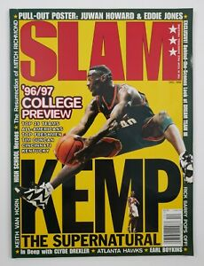 Dec. 1996 Slam NBA Pro Basketball Magazine #14 Shawn Kemp Cover