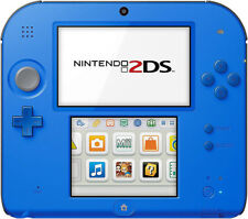 Genuine Nintendo 2DS Handheld Gaming System with Charger - Electric Blue - GST3