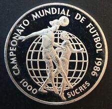Ecuador - Silver 1000 Sucres Coin - Football - 1986 - Proof