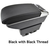 Arm Rest Centre Console Storage Box Armrest Black For Ford Fiesta Mk7 09-17