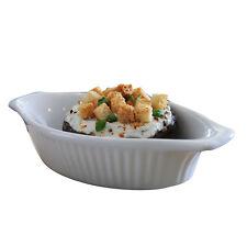 White oval gratin dish 22cm white oval baking cottage pie lasagne dish SET OF 6