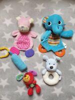 Baby Sensory Toy Bundle Teether Activity Rattle