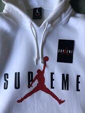Supreme x Jordan Jumpman Hoodie White Size Medium [799705-100]