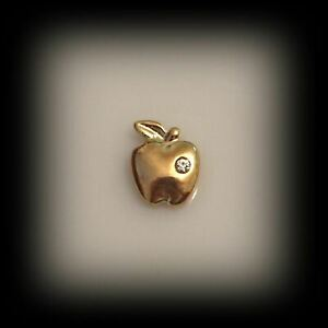 Gold Apple Floating Charm