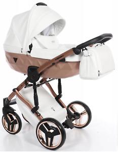 Beautiful Junama Diamond MIRROR SATIN Baby Pram Stroller Pushchair Travel System