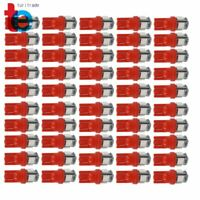 50x Pure Red T10 Wedge SMD 5050 LED Interior Light bulbs W5W 161 158 192 168 194