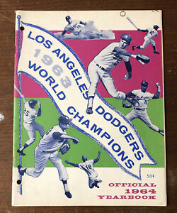 1963 Los Angeles Dodgers World Champions 1964 Yearbook Sandy Koufax 56 Pages