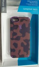 iPhone Case Speck CandyShell Inked Case for iPhone 5/5S, Camo Brown / Purple