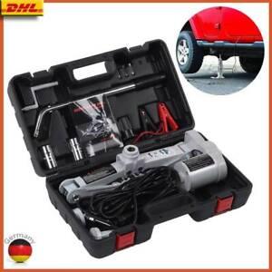 3T 12V Elektrischer Wagenheber Hebesatz Set mit Reifenschlüssel Auto SUV 12-42cm