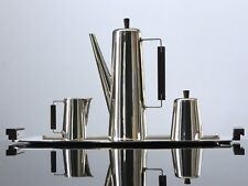 Mid Century Modern Sterling Silver Coffee Service Set Tray Pot Creamer Mexico