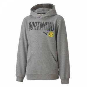 Borussia Dortmund BVB Hoodie Kapuzenpullover MHMV grau