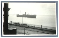 Egypte, Port Said (بورسعيد), Entrée du Canal de Suez  Vintage silver print.  T