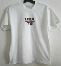 ORACLE USA 76 White Hanes T Tee Top Shirt Unisex Boy Girl Teen Youth L 14/16 NEW