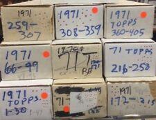 1971 Topps Baseball Lot BUILD-Finish-UPGRADE Your Set You Pick 15
