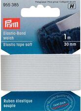 EUR 2,80 / m Prym Elastic-Band weich 30mm/1m weiss Gummiband Elastikband 955385