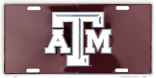 Texas A & M Commerce License Plate Sign Metal Tag Truck Car Auto Made in the USA
