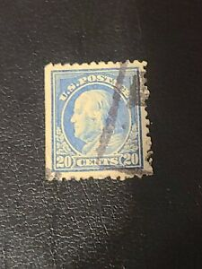 1917-1919 US Stamps Sc# 515 20c Benjamin Franklin Used Beautiful Condition-#1982