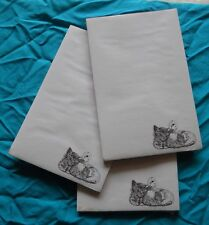 Duck and Kitten Notepad 50 Sheets 8.5 x 5.5 New Black and White Drawing - 3 pads