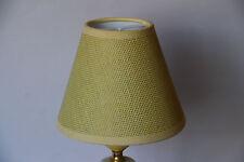 3 Lampenschirm Stoff currygelb RAL 1027 NEU   2614-252     3 Schirme